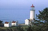 North Head Lighthouse at Fort Canby State Park. Washington State Coast. USA