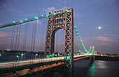 George Washington Bridge to New York City. USA