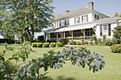 Franklin, Chasley Farms, built 1835, backyard, landscape. Alabama. USA.