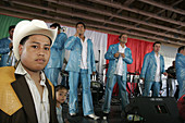 Florida, Homestead, Harris Field, Cinco de Mayo Celebration, Mexican Hispanic teen boy, musicians, performers, band