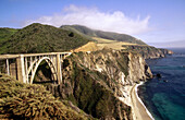 Famed Bixby Bridge, Highway 1. Big Sur. California. USA.