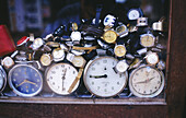 Clock shop in Mysore. India