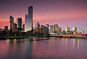 Central Business District and Yarra River. Melbourne. Australia