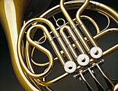 Art, Arts, Brass, Close up, Close-up, Color, Colour, Detail, Details, Excellence, Golden, Horizontal, Indoor, Indoors, Inside, Interior, Metal, Music, Musical instrument, Musical instruments, Object, Objects, Thing, Things, Trunk, Trunks, Wind instrument