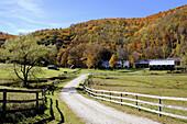 Farm in autumn. Vermont, USA