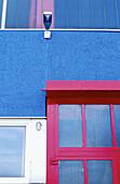 Closed, Color, Colour, Concept, Concepts, Daytime, Detail, Details, Door, Doors, Exterior, Facade, Façade, Facades, Façades, Industrial, Industry, Light bulb, Light bulbs, Lightbulb, Lightbulbs, Outdoor, Outdoors, Outside, Shut, Unlit, Vertical, G64-2028