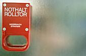 Alarm, Alarms, Color, Colour, Concept, Concepts, Detail, Details, Door, Doors, Emergencies, Emergency, Hang, Hanging, Horizontal, Indoor, Indoors, Inside, Interior, Red, Security, Wall, Walls, Warning, Warnings, G64-211701, agefotostock