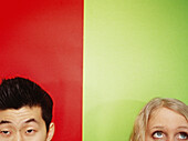 Adult, Adults, Asian American, Asian Americans, Asian-American, Asian-Americans, Askance, Blonde, Blondes, Caucasian, Caucasians, Close up, Close-up, Closeup, Color, Colored, Colorful, Colors, Colour, Coloured, Colourful, Colours, Contemporary, Dark-hair