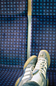 Chill out, Chilling out, Color, Colour, Feet, Foot, Footgear, Footwear, Human, Lean, Leaning, Leisure, Motionless, One, One person, People, Person, Persons, Relax, Relaxation, Relaxing, Rest, Resting, Seat, Seated, Seats, Shoe, Shoes, Single person, Sit,