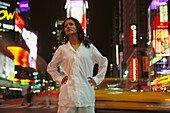 Woman at Times Square. New York City. USA