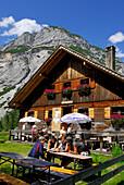 alpine hut Kastenalm, Hinterautal, Karwendel, Tyrol, Austria