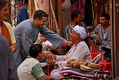 street scene at local market, Luxor, Egypt, Africa