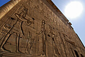 Relief at temple of Dendera, Egypt, Africa