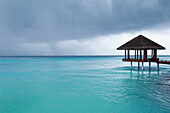 Yoga Pavilion after rain, after a rainstorm, One & Only Resort Reethi Rah, Maldives