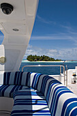 Aboard a private yacht, luxury vacation on a private island with yacht, Rania Experience, Faafu Atoll, Maldives