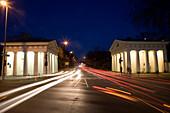 Ratinger Tor at night, Duesseldorf, North Rhine-Westphalia, Germany