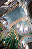 Interior view of the Russian orthodox Church of the Holy Spirit, Vilnius, Lithuania
