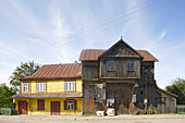 Typical warehouse in the village of Skiemonys, near Anyksciai, Lithuania