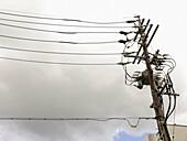 Power lines. Takayama. Gifu Prefecture. Japan