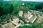 Pyramid at the old Mayan city of Caracol. Belize