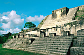 Temple. Maya ruins of Altun Ha. Belize