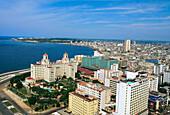 Havana, cuba. Quartier Vedado with Hotel Nacional.