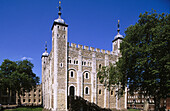 The White Tower, central keep of Tower of London fortress. London. England. UK