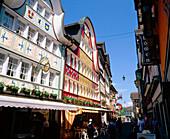 House façades and street. Appenzell. Switzerland