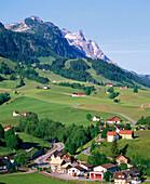 Village on the mountainside. Appenzell canton. Switzerland