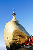 Kyaik-Tiyo Pagoda (The Golden Rock). Kyaikto. Myanmar (Burma).