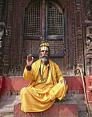 Sadhu (Hindu holy man). Durbar square. Kathmandu. Nepal.