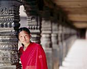 Nepalese woman. Bhaktapur. Kathmandu valley. Nepal.