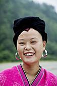 Yao Chinese woman. Guilin. Longsheng. Guangxi Province. China.