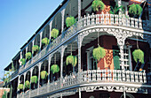 Iron cast balconies of La Branche House . French Quarter. New Orleans. Louisiana. USA