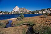 Cathedral Peak from Budd Lake, Yosemite National Park. California. USA
