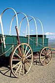 Conestoga wagon at the National Historic Oregon Trail Interpretive Center. Baker City. Oregon. USA