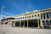 The Discovery Museum History Center and historic buildings in Old Town Sacramento. California. USA