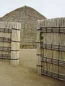 Outside of traditional tribal king s dwelling in Rwanda