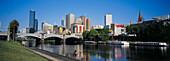 Downtown Melbourne (world s most liveable city, 2004) across Yarra River. Victoria, Australia