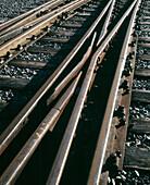Old railway tracks. Sweden.