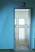 Banister, Banisters, Color, Colour, Concept, Concepts, Daytime, Door, Doors, Exit, Exits, Handrail, Handrails, Indoor, Indoors, Inside, Interior, Nobody, Open, Rail, Railing, Railings, Rails, Room, Rooms, Vertical, G96-213498, agefotostock