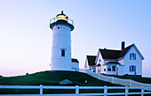 Nobska lighthouse (1829). Woods Hole. Cape Cod. Massachusetts. USA