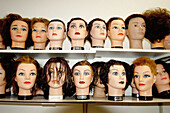 Beauty, Beauty Care, Color, Colour, Concept, Concepts, Daytime, Different, Dummies, Dummy, Feminine, Head, Heads, Horizontal, Indoor, Indoors, Inside, Interior, Mannequin, Mannequins, Many, Odd, Shop, Shops, Store, Stores, Strange, Style, Varied, Variety