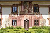 Pilatushaus, mural painting in Oberammergau. Upper Bavaria, Germany