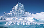 Eroded iceberg in Lemaire Channel. Antarctic Peninsula. Antarctica