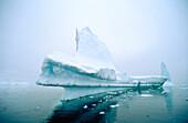 Eroded icebergs in forg. Antarctica