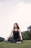 Daytime, Exterior, Female, Fit, Full-body, Full-length, Grass, Health, Healthy, Human, Lawn, One, On