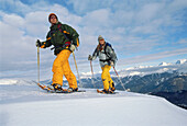 Two people on snow shoes, hiking tour through a winter landscape, Winter Sports, Sport, Tyrol, Austria