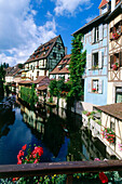 Little Venice in the Olöd Town, Quartier de la Krutenau, Colmar, Alsace, Haut-Rhin, France