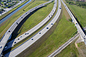 Aerial view of the highway infrastructure, Miami, Florida, USA